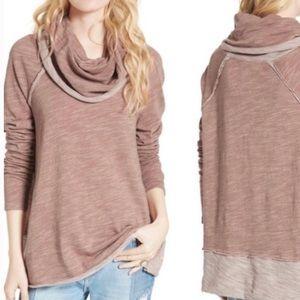 Free People BEACH Pullover cowl neck sweatshirt